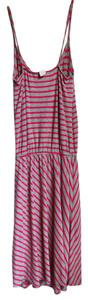 Mimi Chica short dress Gray and Pink Jersey Striped Fall Elastic on Tradesy