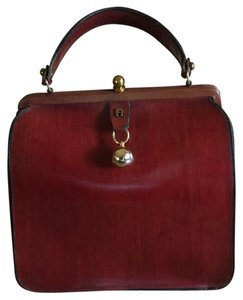 Etienne Aigner Satchel in Burgandy