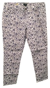 J.Crew Skinny Pants White/blue/gray.