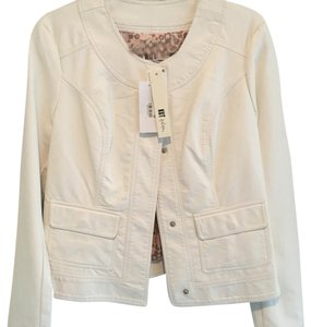 KUT from the Kloth Cream Leather Jacket