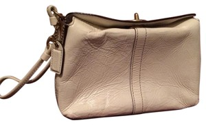 Coach Cell Phone Wallet Small Wristlet in Cream