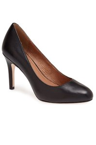 Corso Como Heels Black Leather Pumps