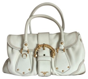 Prada Satchel in off white