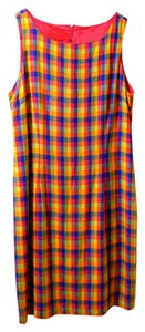 JBS Limited short dress green pink blue orange plaid on Tradesy