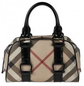 Burberry Signature Tote in Black/Multi
