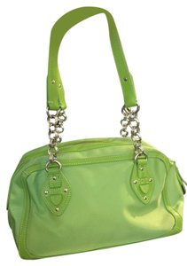 United Colors of Benetton Nylon Silver Hardware Satchel in lime green