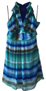 The Limited short dress Teal Belted Tie Dye Flirty on Tradesy