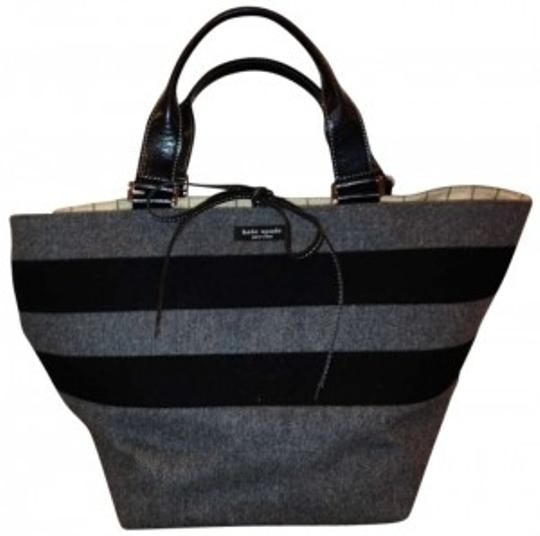 Preload https://item5.tradesy.com/images/kate-spade-heather-gray-and-black-striped-felt-tote-193724-0-0.jpg?width=440&height=440