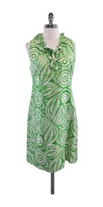 Kate Spade short dress Green White Floral Print on Tradesy