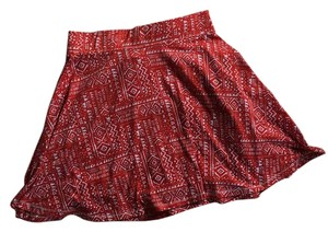 Mossimo Supply Co. Mini Skirt Red and white