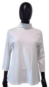 Other Eli 3/4 Sleeve Turtleneck Knit Top White