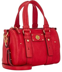 Marc by Marc Jacobs Leather Satchel in Rosey Red