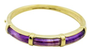 Natural Deep Purple Amethyst Bracelet -14K Gold Gemstone Jewelry