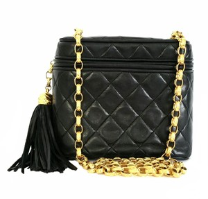 Chanel Quilted Leather Tassel Shoulder Bag