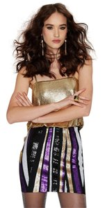 Nasty Gal Sequin Mini Mini Skirt Multicolor