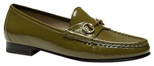 Gucci 1953 Patent Leather Olive Flats