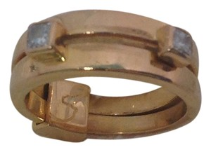 Hermès Hermes 18K Yellow Gold and Diamond Size 5.5 Ring