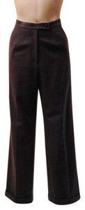 Classiques Entier Wool Cuffed Career Business Trouser Pants Grey