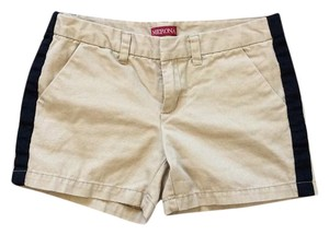 Merona Mini/Short Shorts Tan with black stripe down the side