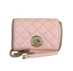 Kate Spade Posy Pink Quilted Leather Cross Body Bag