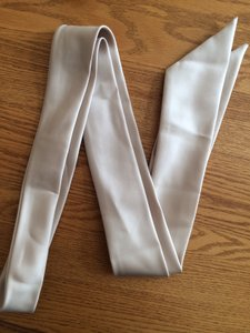 David's Bridal Champagne Wedding Sash