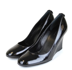Gucci Patent Leather Wedge Black Platforms