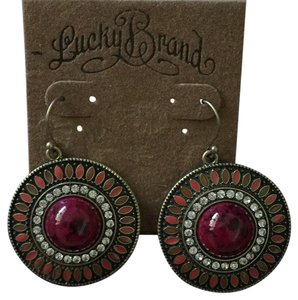 Lucky Brand NWT Round Stone Earrings