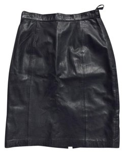 Express Skirt Black Leather