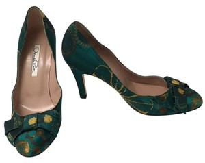 Oscar de la Renta Emerald green Pumps