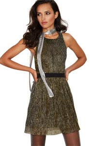 Nasty Gal Pleated Metallic Strappy Multicolor Dress