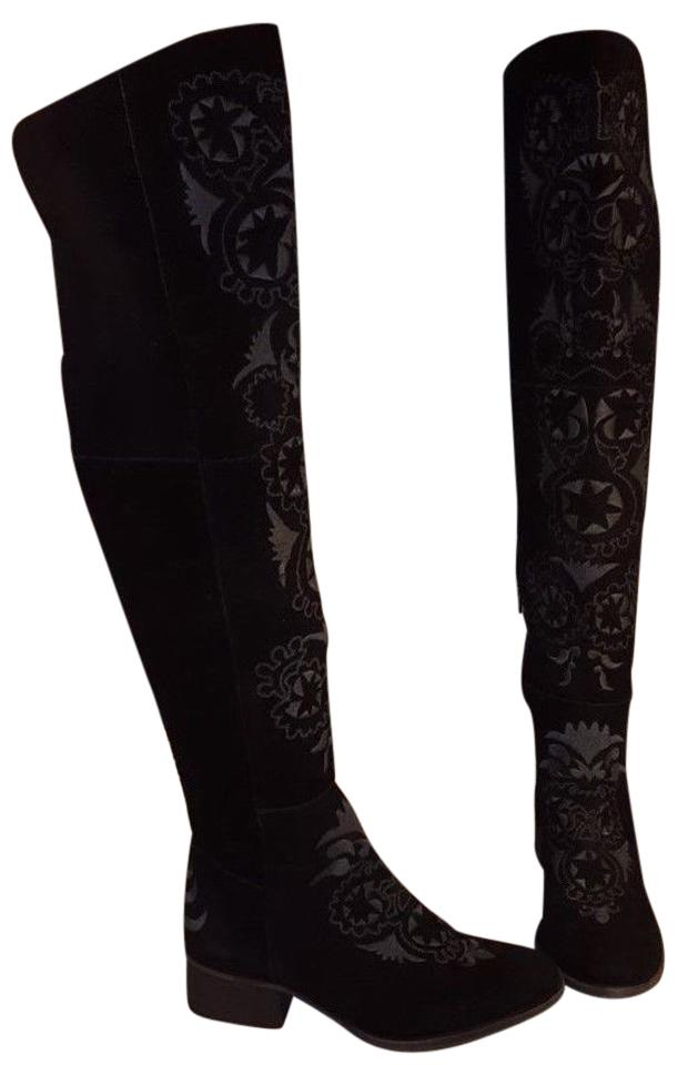 Free People Black Boots/Booties Over-the-knee High Noon Suede Boots/Booties Black b7d1fa