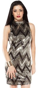 Suzy Shier Sequin Embroidered Dress