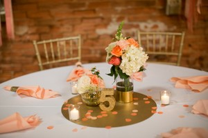 Gold Glitter Table Numbers 1-16