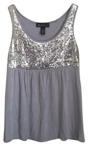 INC International Concepts Top Silver/grey