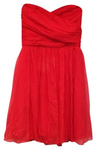 J.Crew Silk Chiffon Strapless Sweetheart Lined Dress