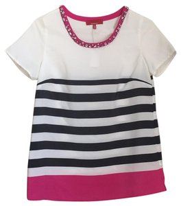 RED sax fifth ave Top Pink/Black stripe