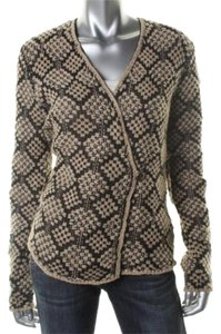 Lucky Brand Sweater Brown Gold Cardigan