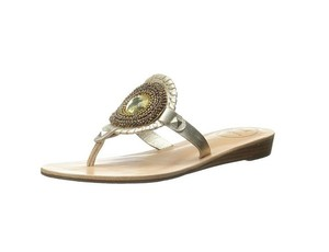 Jack Rogers Dress Flats New Platinum Sandals