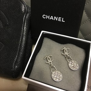 Chanel Chanel Stamped Dangling Earring Silver tone