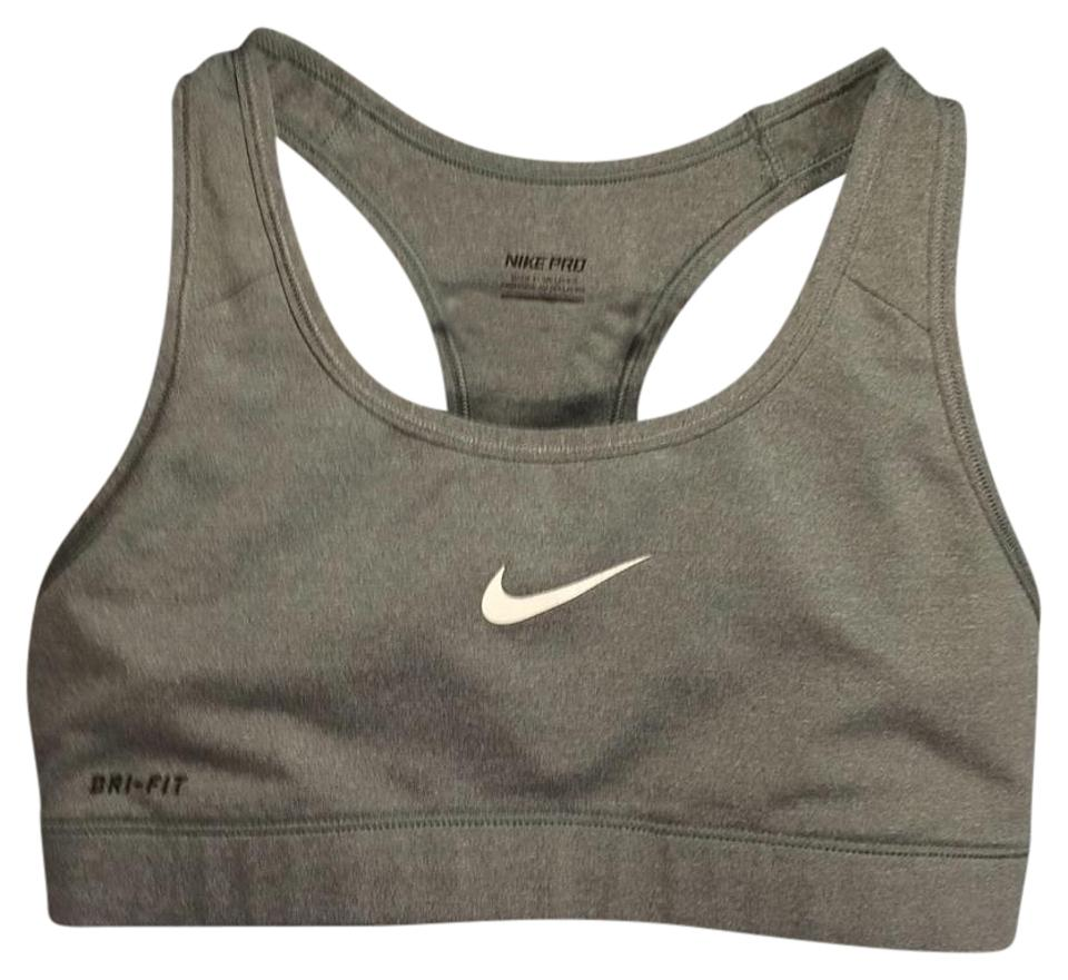8acd3984c2 Nike Gray Pro Dri-fit Activewear Sports Bra Size 4 (S