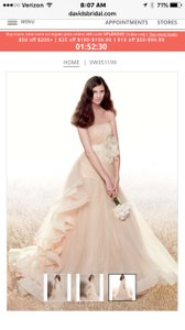 White By Vera Wang Vw351199 Wedding Dress