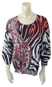Chico's Animal Print Top Multi-Color