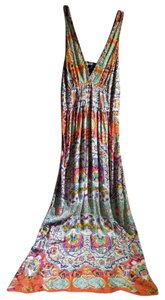 orange multi Maxi Dress by Angie