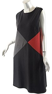 Tahari short dress Black Red & Grey Arthur S Levine Poly/rayon on Tradesy
