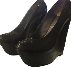Gianmarco Lorenzi Black Wedges