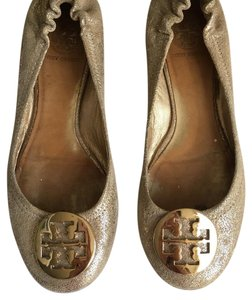 Tory Burch Speckled Gold Flats