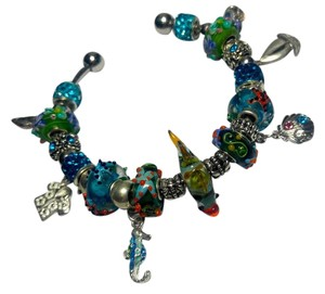 Other New European Charm Bracelet 23 Removable Charms Nautical J2871