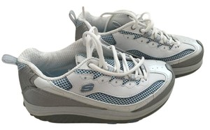 Skechers Sneakers Exercise Work Out white, blue and silver Athletic
