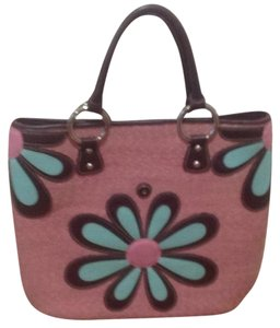 Isabella Fiore Tote in Pink/burgundy