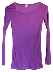 Mossimo Supply Co. Scoop Casual Plain T Shirt Purple